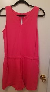 Pink Romper With Pockets New York Size M